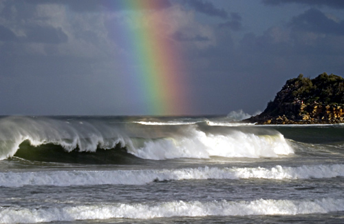 Ocean rainbow; sea of stories